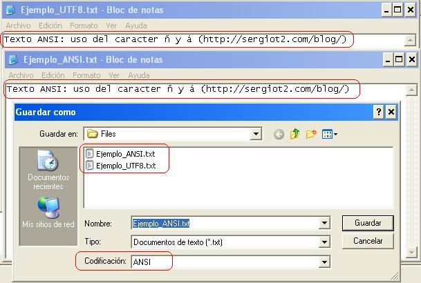 Archivos ANSI UTF8 - Geeks.ms